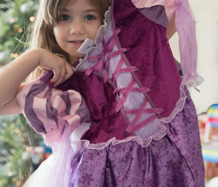 The Princess shows her dress...